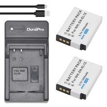 Carregador de Bateria plus Usb Digital para Nikon Durapro 2 Pcs En-el12 Ultra Slim Coolpix S9700 S9900 Aw120 S9500 Aw110 S70 S9600