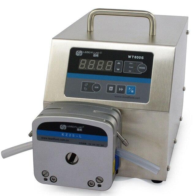 WT600S 2XYT15 Big Flow rate Adjustable Peristaltic Pump Industrial Lab dosing Tubing Peristaltic Pump 1.8-2300ml/min peristaltic plus s с 1 мес 2 шт