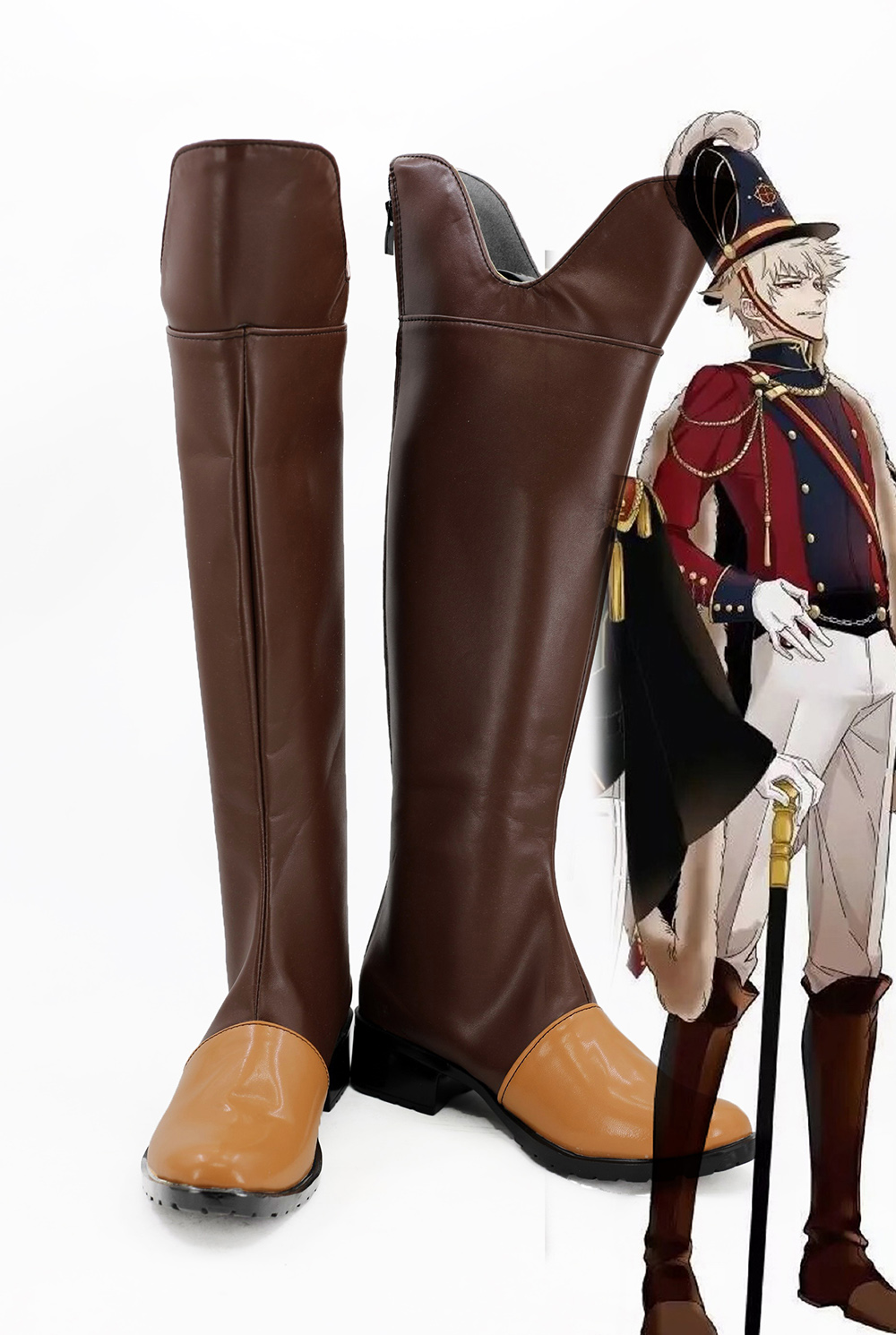 Boku no Hero Academia My Hero Academia Bakugou Katsuki Brown Cosplay Boots Shoes Custom Made