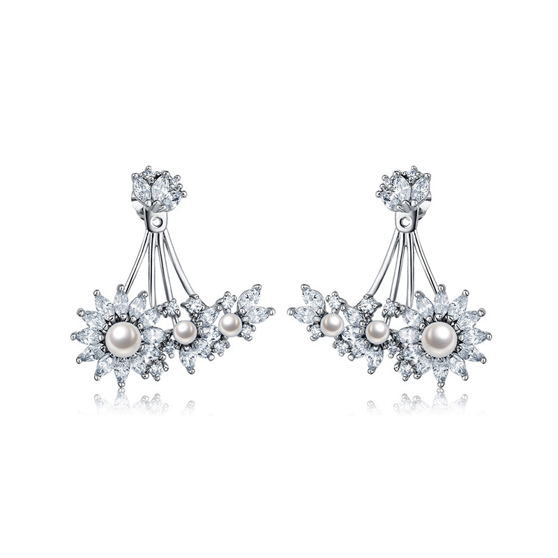 808 STORE Creative Personality Design Crystal Stud Earring for Women Birthday Anniversary Party Fine Jewelry Accessories