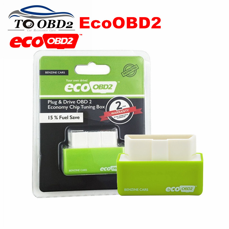 Hot Sale Green Benzine Cars EcoOBD2 Car Auto Chip Tuning Box Find Cars More Hidden Power NitroOBD2 Benzine Nitro OBD2 Interface