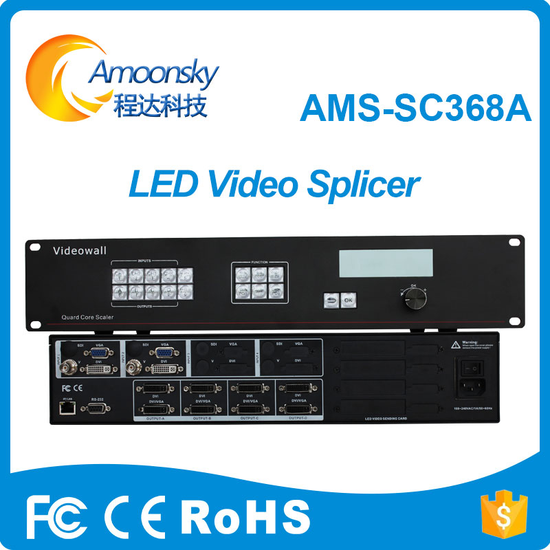 Video Games Ingenious Amoonsky Sc368a Vga Switcher Seamless Switcher Display Rgb Led Panel Full Color Led Processor Hdmi Video Wall Controller Consumer Electronics