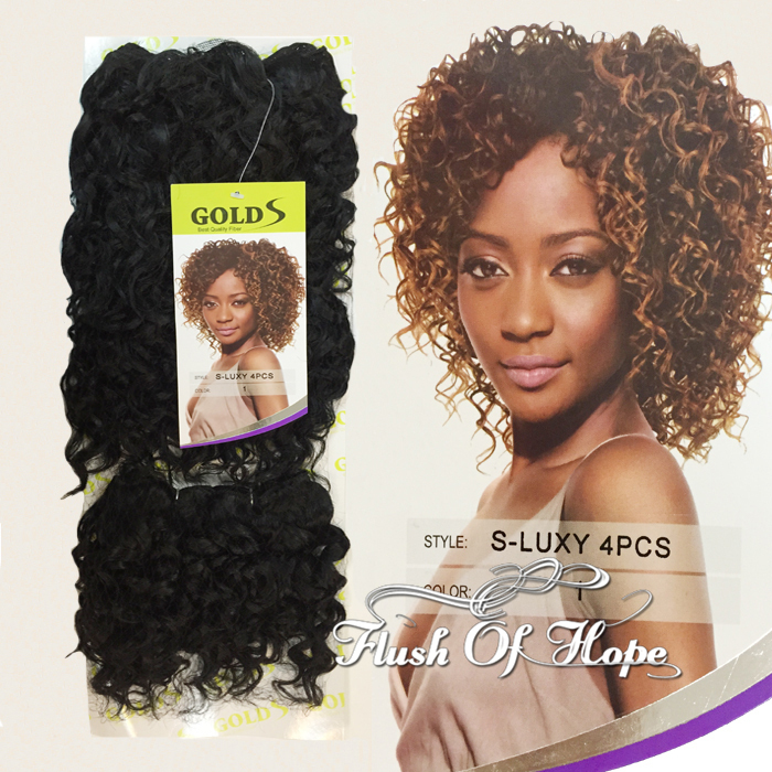 New Noble Golds S Luxy Jerry Curl Synthetic Hair Extensions Weft