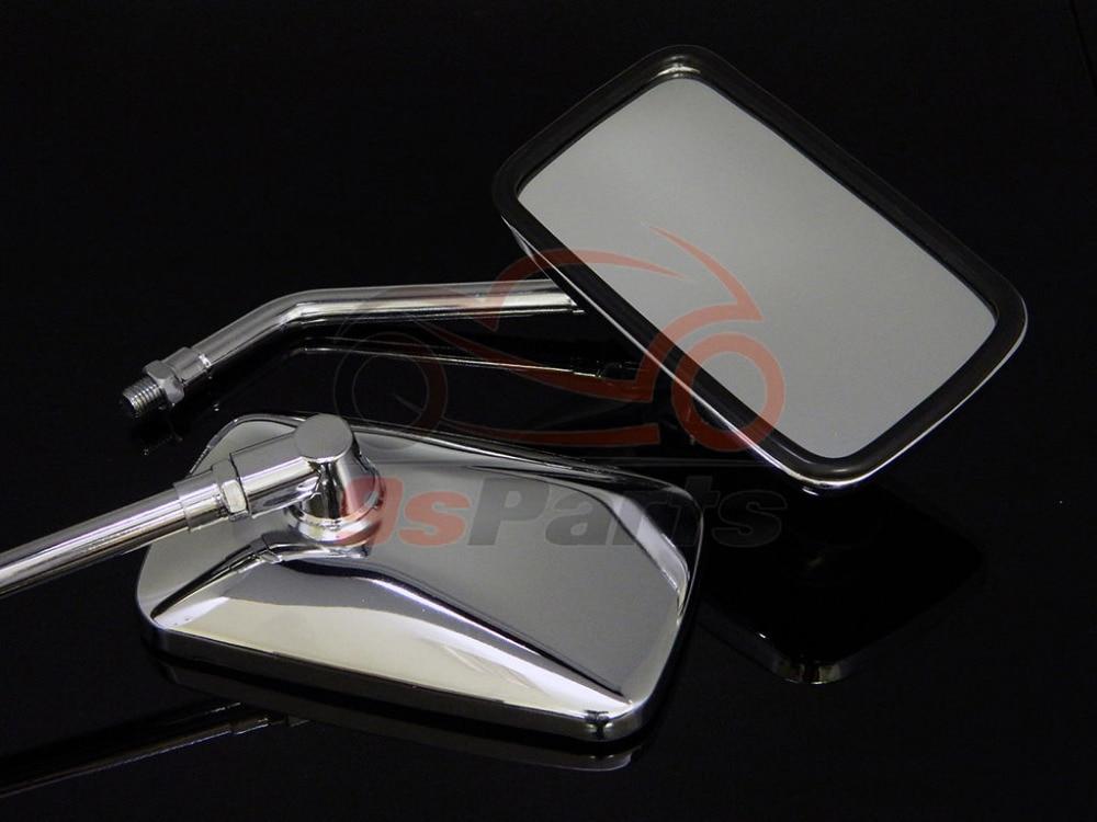 10 мм хромированные мотоциклетные прямоугольные зеркала заднего вида, боковые левые и правые зеркала для Honda Rebel Shadow VTX Cruiser универсальные