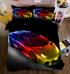 3D Bedding Set Car photos Bed sheets Queen Twin Full Duvet Cover Bed sheet Pillowcase 4pcs/set Fitted sheet Home Textiles