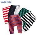 Nueva Primavera Otoño Niños Bebés/Niñas Stripe Print Pant Pantalones Harén de Algodón Para Bebé Pantalones Casuales PP Pantalones Leggings