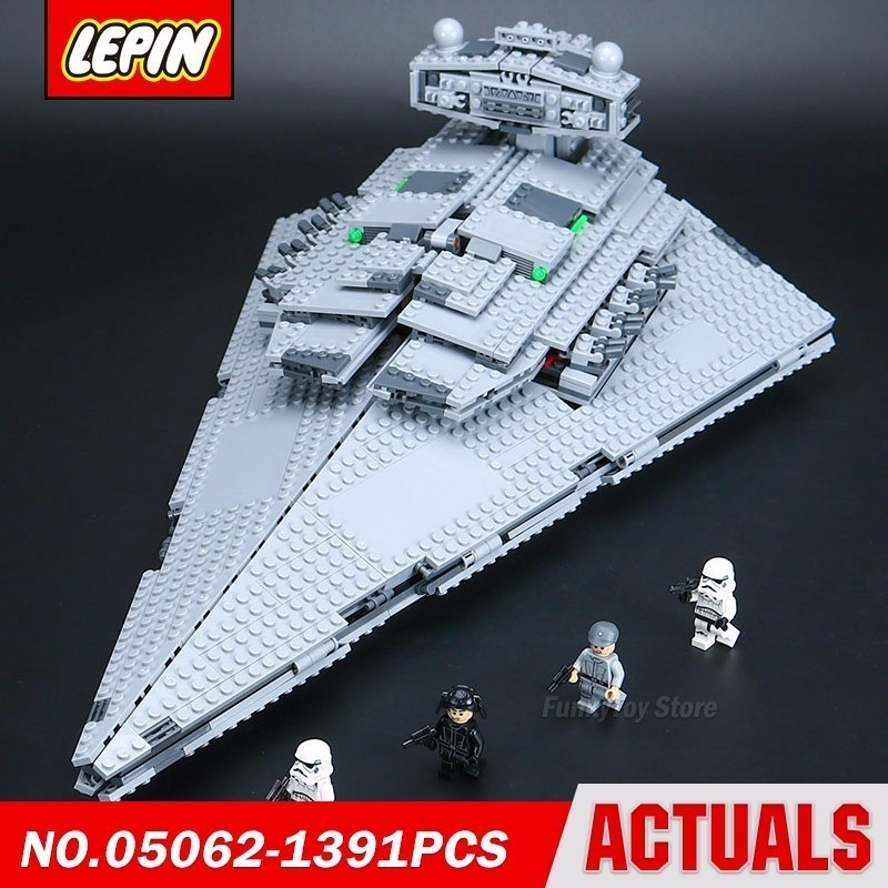 Lepin 05062 Empire Destroyer 75055 Star Series Wars Model Building Block Brick Kits Assembling Toys 05028 star wars execytor super star destroyer model building kit mini block brick toy gift compatible 75055 tos lepin