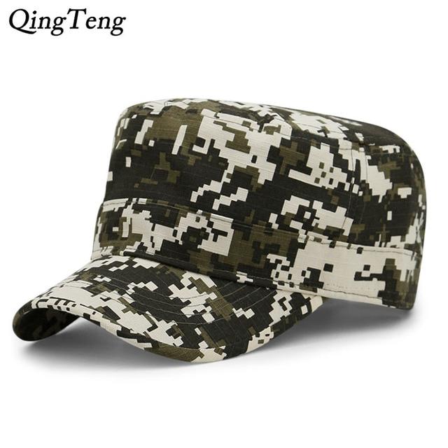 62a238ac1a0 Digital Camo Cap Casquette Camouflage Hats For Men Flat Cap Blank Plain  Camo Hats Army Outdoor Baseball Cap Snapback Hip Hop Men
