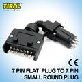 TIROL T21614b 7 Pin Plug Connector Trailer Boat Truck Car Parts Plug Connector Adaptor 7 Pin Plug with Clamp