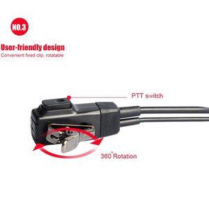 Image 4 - 10PCS אביזרי אוויר אקוסטית צינור אוזניות אפרכסת לbaofeng עבור רדיו ווקי טוקי אוזניות עבור 888S UV 5R UV 82