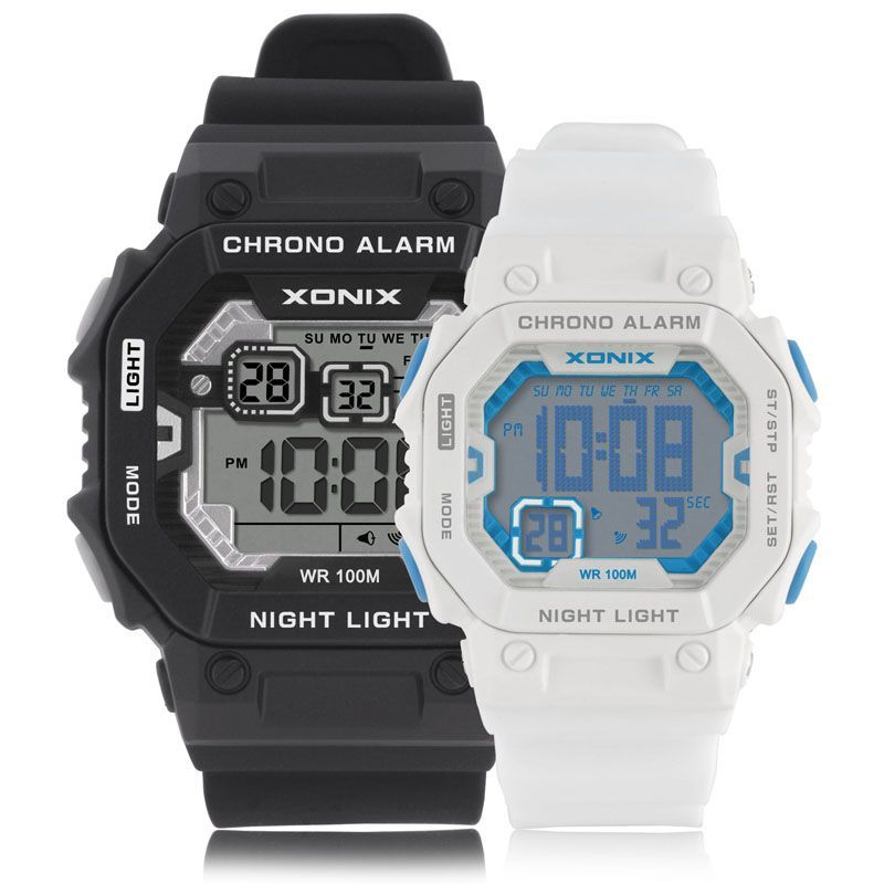 Lovers' Outdoor Sports Digital Watch Fashion Sports Multifunction LED Watches Waterproof 100m Swimming Diving Wristwatch