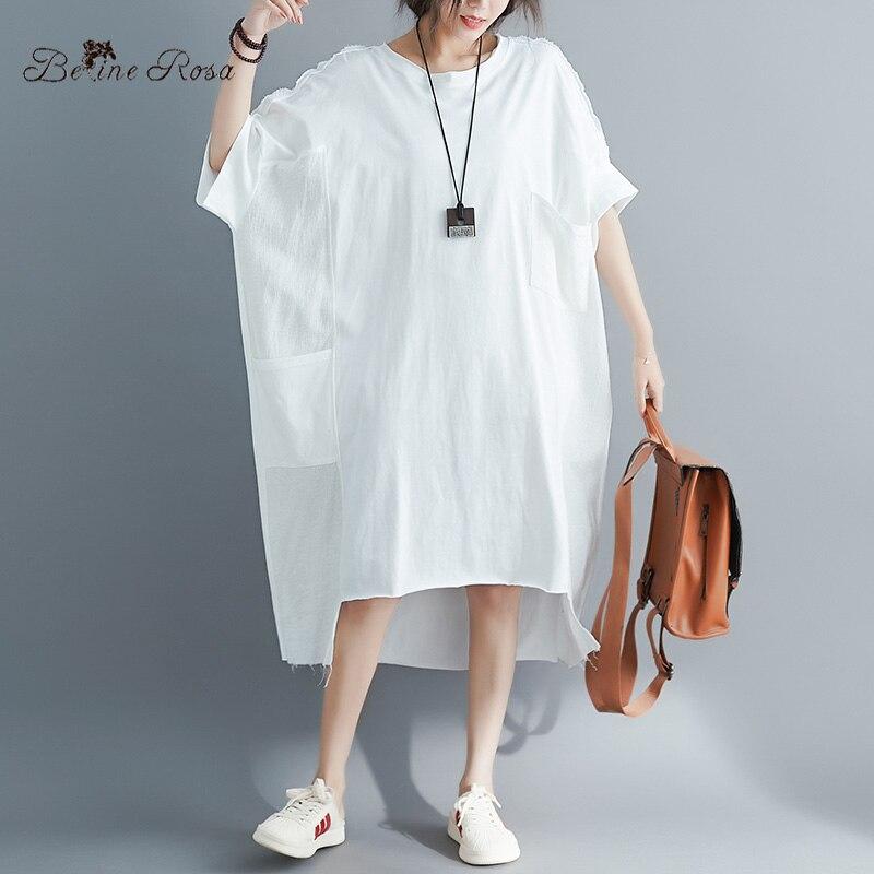 BelineRosa Muslim Style Womens Shirt Dress Big Sizes Dress 4XL  5XL 6XL Plus Size Dress T shirts Dresses Female YPYC0012Dresses   -