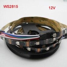 1/3/5m WS2815 DC12V (WS2812B/WS2813) RGB LED Pixels Strip Light Individually Addressable Dual-Signal 30/60/144 Pixels/Led/m