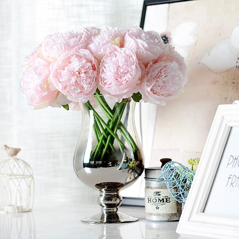 5 odprtih popkov glave / šopek umetna vrtnica svilene rože evropska jesen živahna potonika ponarejeni list dekoracija za dom zabave