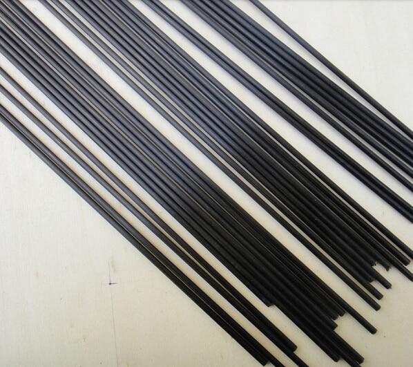 mikado nsc pole 800 без колец carbon 5pcs Carbon Fiber Rods Matte Pole 1.5mmx500mm For Quadrotor RC Aircrafts
