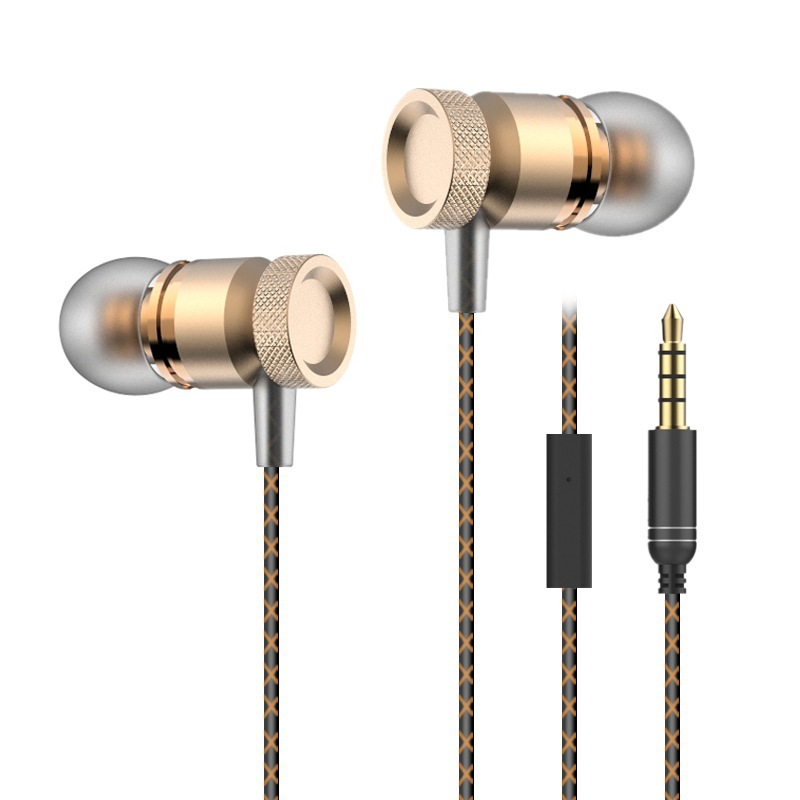 Super Bass Earphones Metal Headphone Noise Isolating Earbud Headset for iPhone Xiaomi Mp3 PC Samsung 150PCSlot