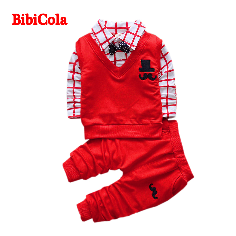 BibiCola New Spring Autumn Baby Boys clothing Sets kids T-shirts+Pants children Tracksuit set toddler clothes set new tops pants toddler girl clothing summer children clothes set baby boys girls tracksuit kids cloth kids hip hop clothing