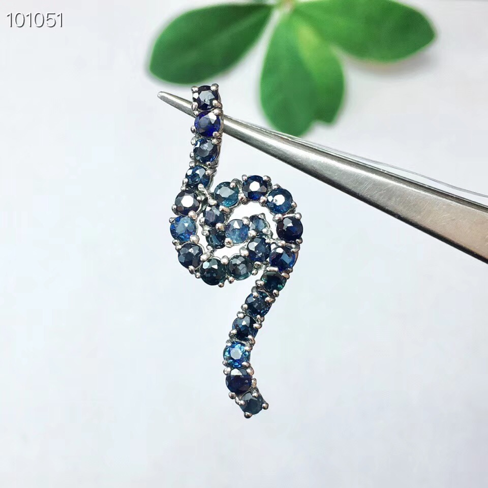 Sapphire pendant Free shipping Natural and Real sapphire 925 sterling silver pendantSapphire pendant Free shipping Natural and Real sapphire 925 sterling silver pendant
