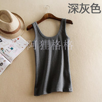 Autumn Winter Tank Top Women Thickening Solid Color Sleeveles Vest Female Basic Plus Size U Style