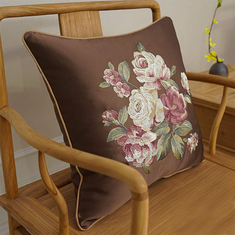 Romantic pastoral flower pillow/almofadas case adult teen girl,seat back cushion cover 45 50 60,decorative throw pillow case
