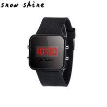 snowshine 10 LED Screen Digital Silicone Strap Girl Boy Quartz Sport Kids Wrist Watch free