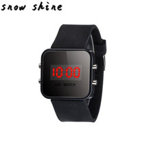 snowshine #10 LED Screen Digital Silicone Strap Girl Boy Quartz Sport Kids Wrist Watch free shipping