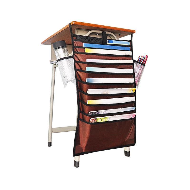 Многофункциональная подвесная сумка для книг, Студенческая сумка для хранения книг, регулируемая сумка для хранения книг, органайзер для книг - Цвет: orange