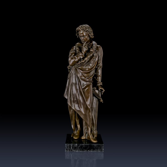 Classical artwork brass Beethoven sculpture Bronze Home Decoration antiques famous sculptures