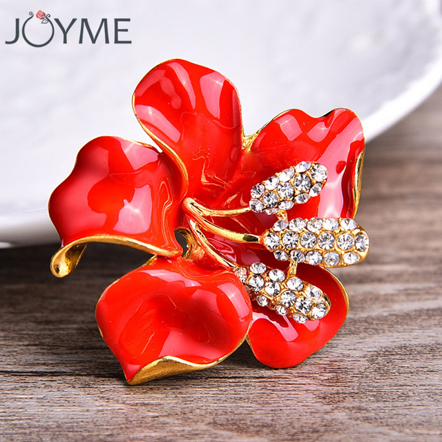6dded39a49c White Enamel Flower Brooches For Women Hijab Pins And Brooches Red Poppy  Purple Brooch Jewelry Scarf Buckle Female Clips
