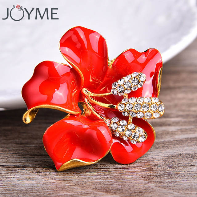 Online Shop White Enamel Flower Brooches For Women Hijab Pins And Brooches  Red Poppy Purple Brooch Jewelry Scarf Buckle Female Clips  53d20b0b852b