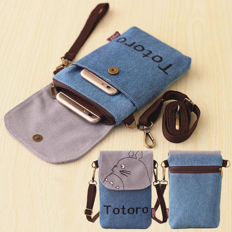 6.3 inch Mobile Phone Bag,canvas Pouch Wallet phone Case Crossbody Bag with Shoulder and ...