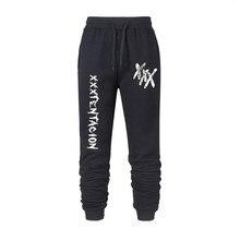 Новинка года; сезон весна-осень; Лидер продаж; Мужские штаны; повседневные мужские брюки XXX Tentacion для занятий фитнесом в стиле хип-хоп; Азиатские размеры S-3XL