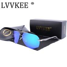 2017 Lvvkee Brand design men driving polarizing sunglasses aviator rimless aluminum-magnesium alloy women sunglasses aviaton