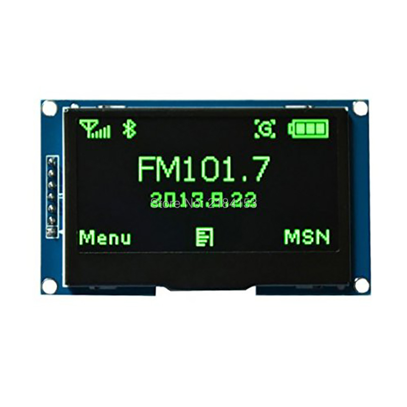 Wholesale 2.42 Green 12864 OLED Display Module IIC I2C SPI Serial FOR Ardui C51 STM32 1 3 inch 128x64 oled display module blue 7 pins spi interface diy oled screen diplay compatible for arduino