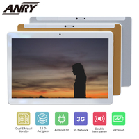 ANRY 10 inch Android Tablet Quad Core Two Sim Card Slots Unlocked 3G Phone Call Phablet 4GB RAM 32GB ROM Tablet PC Built in WiFi