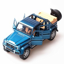 Simulation Mercedes - Mercedes-Benz Maybach G650 car model alloy sound and light pull back toy
