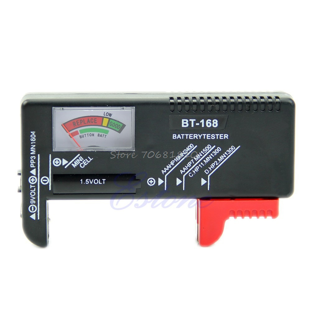 Универсальный AA/AAA/C/D/9 В кнопки сотового Батарея Вольт тестер проверки 9 В Новый сети Инструменты # K400Y # Dropship