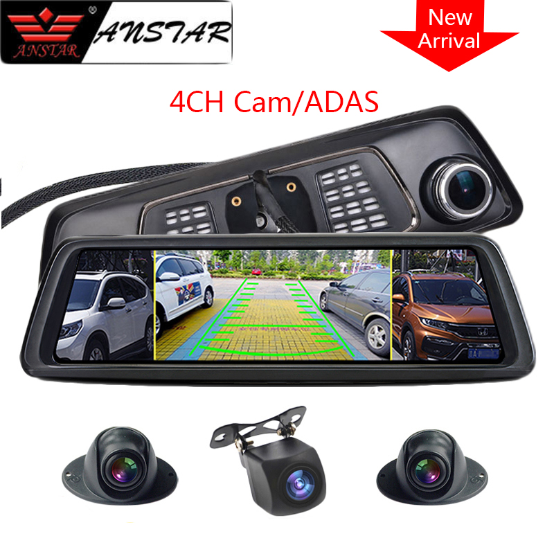 2019 Anstar 10 Quot 4g Rear View Camera Mirror Dash Cam 4ch