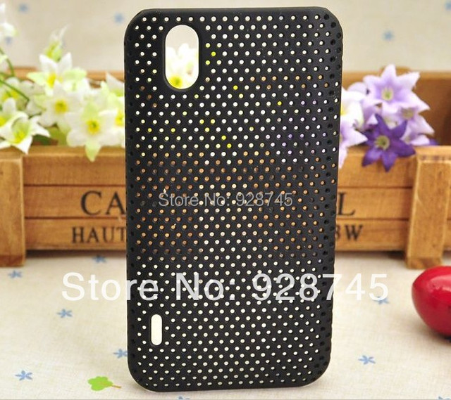 Free Shipping Support Wholesale For LG P970 Cell Phone Mesh Back Hard Cases Blue Hole Covers 9 Clors