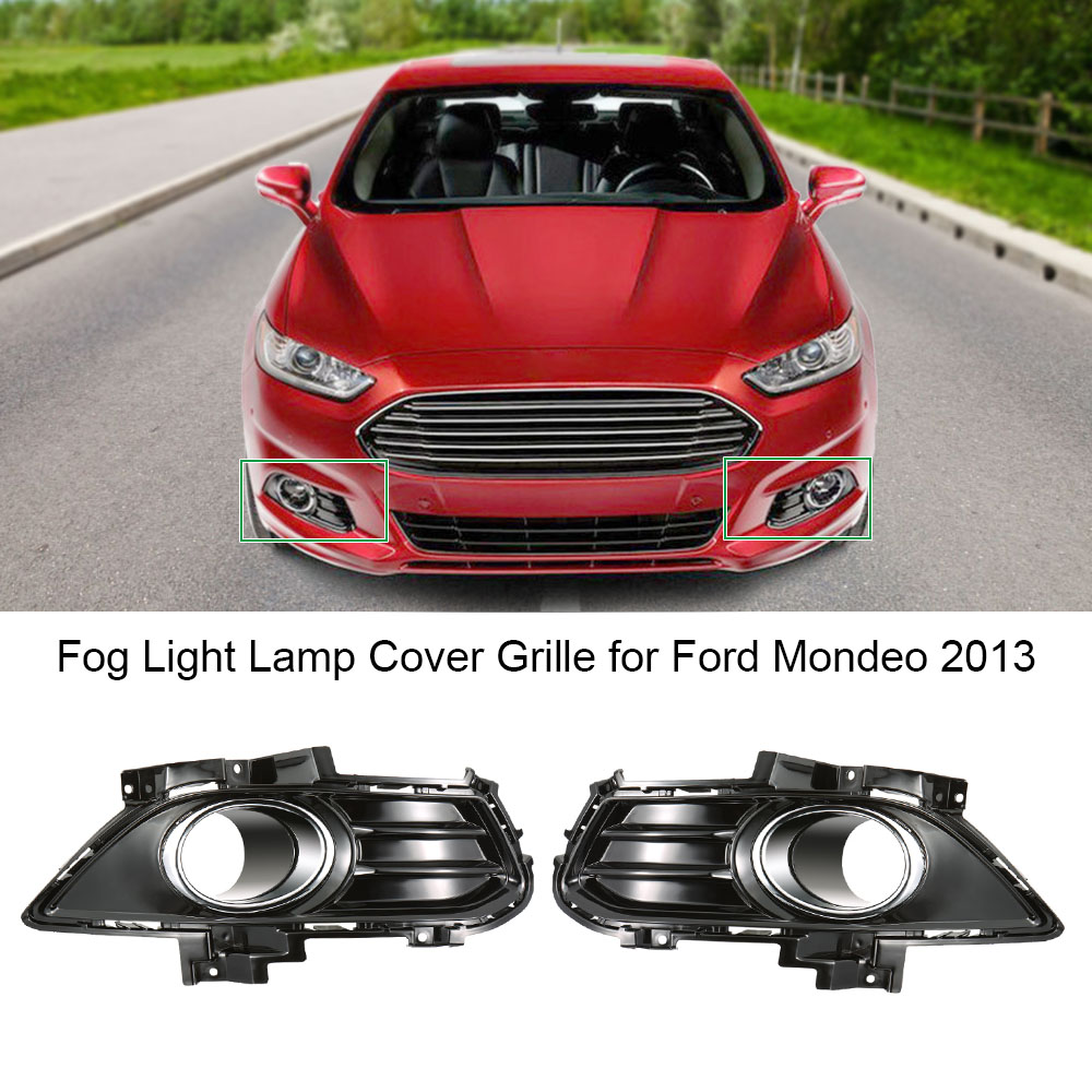 Car-styling Front Fog Light Lamp Cover Grille Replacement  for Ford Mondeo 2013-2016 Pair of Cars Running Lights dwcx 2pcs front fog light lamp cover grille grill 2pcs lamp kit for ford fiesta 2014