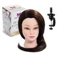 Cosmetology Training 22 90 Brown Animal Hair Practice Mannequin Head Hairdressing Styling Head Make Up Doll