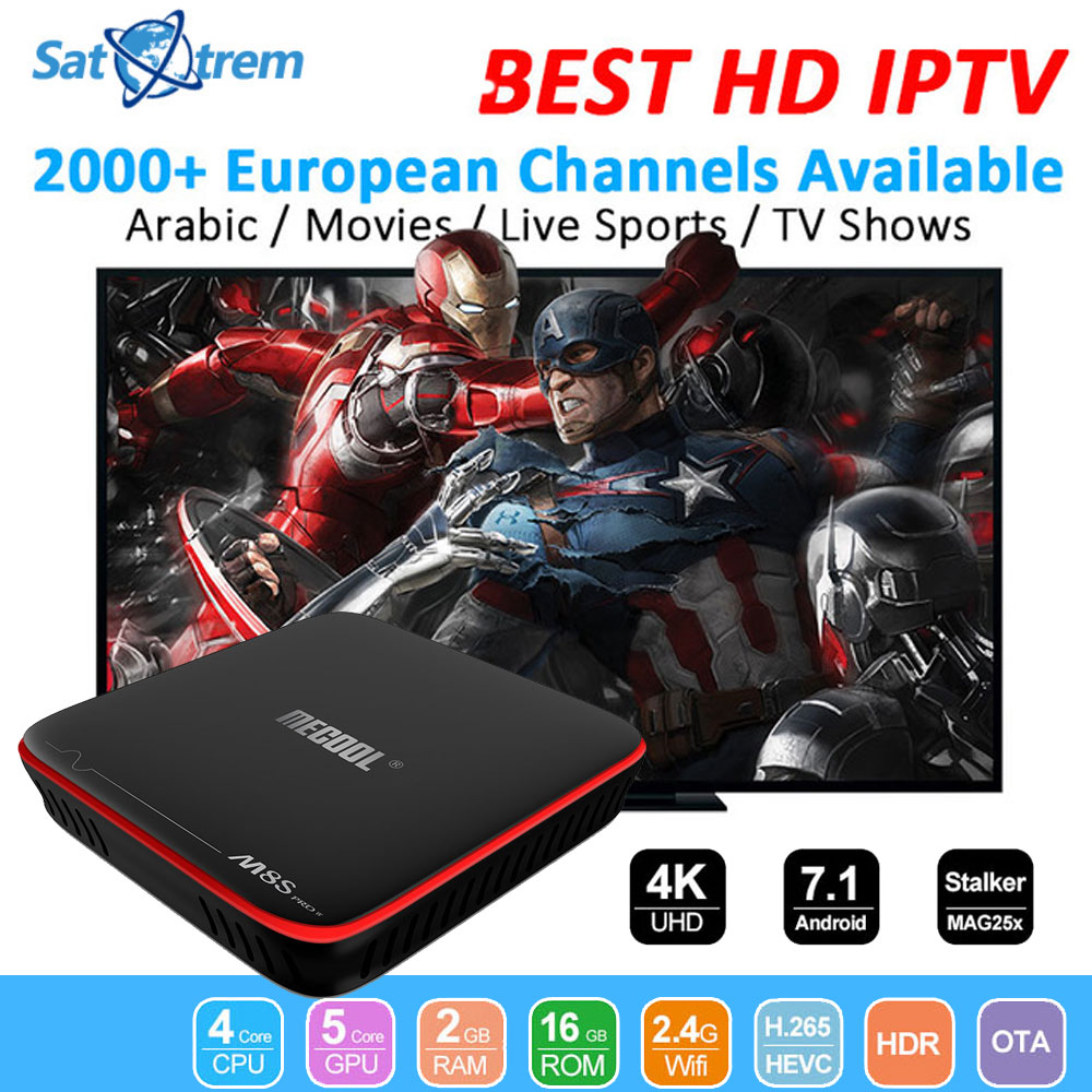 MECOOL M8S PRO W Android 7.1 TV Box Amlogic S905W 4K Stalker MAG25X Set Top Box With 1 Year IPTV Europe Arabic Italy France Code мясорубка gemlux gl mg500ss