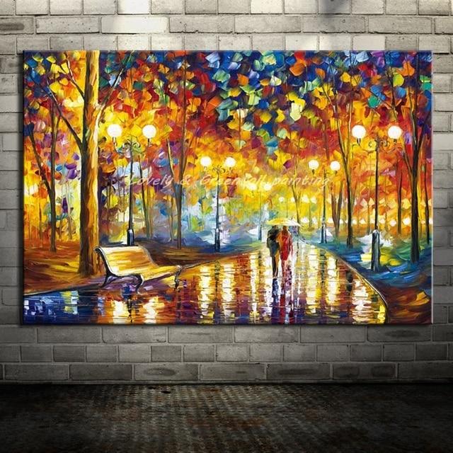 100 Hand Gemalte Landschaft Gemälde Moderne Wohnkultur Wand Kunst