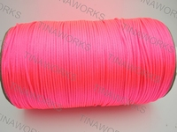 FREE SHIPPING 300meters/327Yards Fluorescent Pink Rattail Satin Cord/Thread Chinese knot/Nylon beading cord for Jewelry Macrame