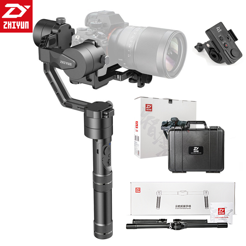 Zhiyun Crane/Crane V2 3-axis Stabilizer Handheld Gimbal For DSLR Canon Camera Support 1.2KG VS Beholder DS1 MS1 4000 lite zhiyun crane 3 axis handheld gimbal stabilizer 360 motors degree moving gimbal vs beholder ds1 ms1 nebula 4000 lite for dslr