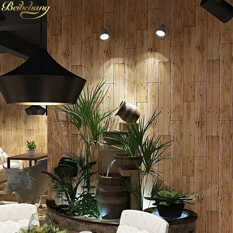 Beibehang Pvc Wood Wallpaper For Walls 3d Roll Vinyl Flooring Mural Wallpaper Living Room Kitchen Bathroom Waterproof Wall Paper Wallpapers Aliexpress