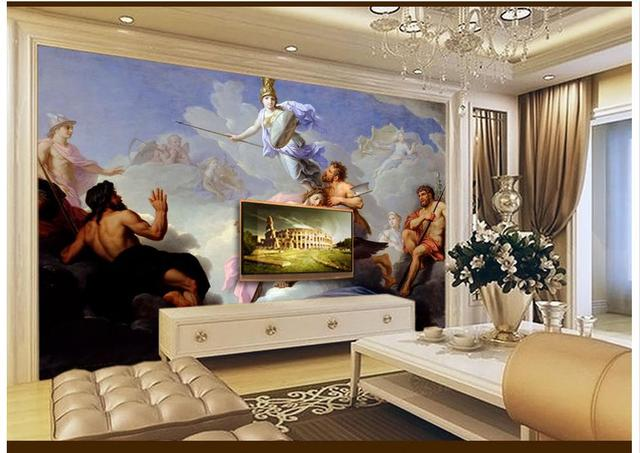 3D Wall Murals Wallpaper Custom Picture Mural Western Famous Painting Of Roman Goddess Classical Oil