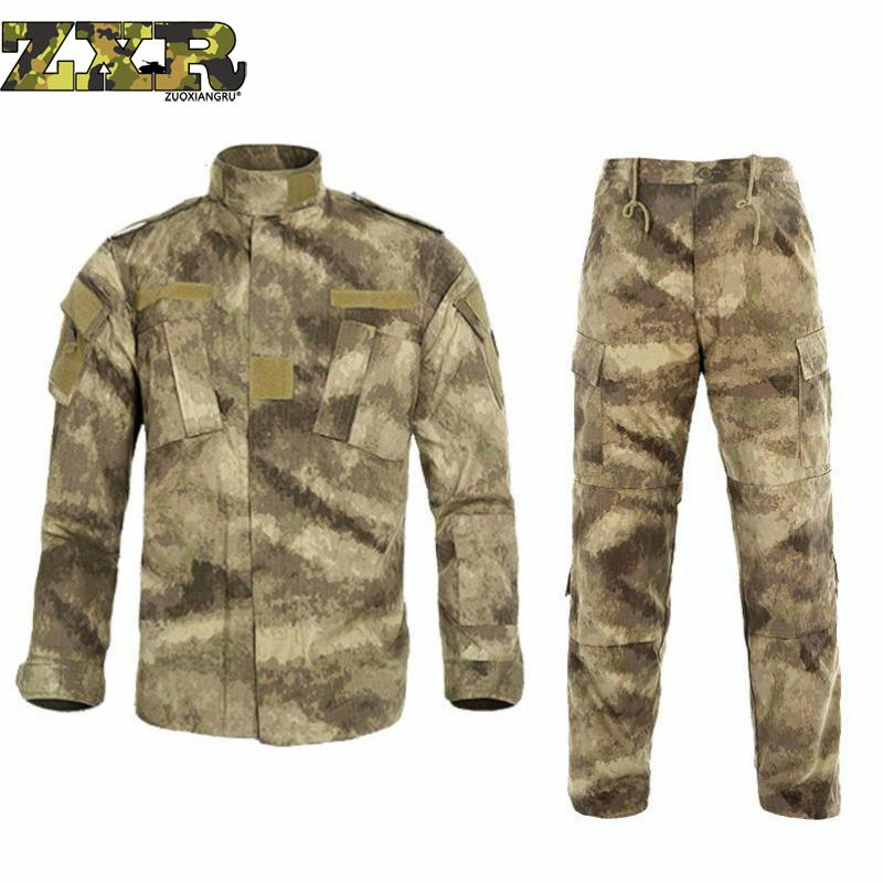 남성 ghillie 정장 미국 군사 acu 육군 코튼 폴리 에스터 남자 블랙 파이썬 위장 유니폼 전술 전투 카모 유니폼 1 set-에서남성용 세트부터 남성 의류 의  그룹 1