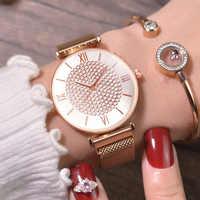 Luxus Frauen Uhren Damen Magnetische Starry Sky Uhr Modus Diamant Weibliche Quarz Armbanduhren relogio feminino zegarek damski