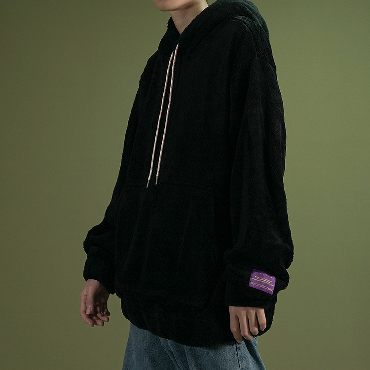 Drawstring Pullover Fleece Hoodie